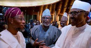 Govs Aregbesola, Akeredolu, Amosun and President Muhammadu Buhari