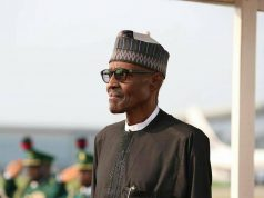 President Buhari on arrival