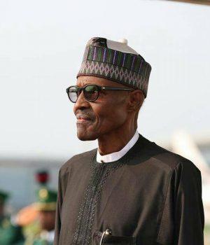 President Buhari on arrival