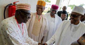 Makarfi, Oyegun and President Buhari