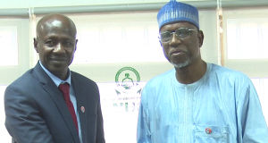 Magu and Executive Secretary of the NUC, Prof. Abubakar Rasheed