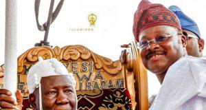 Olubadan of Ibadan land, Oba Saliu Adetunji and Gov. Abiola Ajimobi