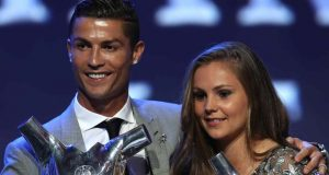 "Ronaldo poses with Best Womans player in Europe"" Netherlands Lieke Martens"