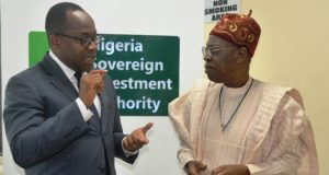 Uche Orji, MD SWF discussing with Minister of Info, Lai Mohammed