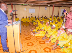 Obaseki addressing Edo pilgrims