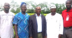 Team FUTA : Prof. Kenny Ogunjobi (Director, WASCAL), Dr. Elijah Adefisan Prof. Emmanuel Okogbue(Head of Department of Meteorology and Climate Science Department);Prof. Jerome Omotosho and Dr. Vincent Ajayi