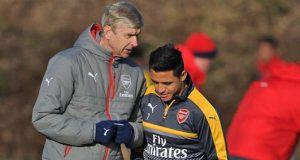 Arsene Wenger with Alexis-Sanchez