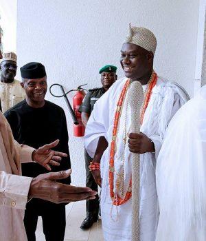 Buhari, Osinbajo, Ooni and Sultan