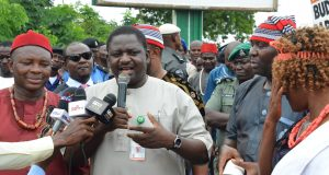 Femi Adesina, addressing members of CCSJ