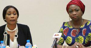 Barr. Julie Okah-Donli DG NAPTIP and Hon . Abike Dabiri-Erewa, SSA FAD