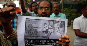 Indian Rights Group protesting the killing of Gauri Lankesh