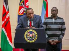 Kenyan President Uhuru Kenyatta and Deputy William Ruto