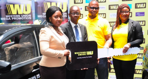 Gabriel Osikoya, FirstBank Customer and Winner of Western Union Mega Promo Grand Prize;