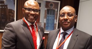 CEO, UBA Francophone, Emeke Iweriebor with Christian Georges Diguimbaye, Hon. Minister of Finance and Budget, of the Republic of Tchad