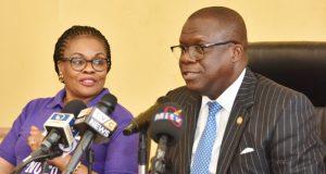 Lagos Attorney General, Kazeem, R,; Director, Citizen & Right Alternate, Mrs. Omotilewa Ibirogba