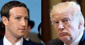 Mark Zuckerberg and President Trump