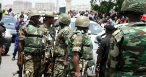 Soldiers clash with IPOB members