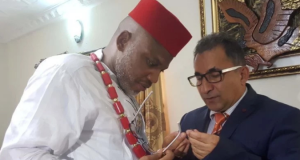 IPOB leader Nnamdi Kanu and Turkish businessman, Abdülkadir Erkahraman
