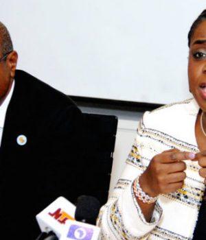CBN Gov. Godwin Emefiele and Finance Minister, Kemi Adeosun