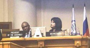 Saraki at the meeting with Nigerian community in St. Petersburg