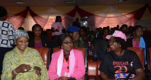 Betty Anyanwu-Akeredolu sandwiched by other officials of BRECAN
