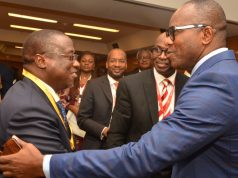 NNPC GMD, Maikanti Baru and Minister of State for Petroleum, Ibe Kachikwu at the NESG forum on Tuesday