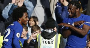 Michy Batshuayi celebrates dramatic victory for Chelsea