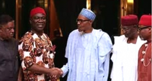 Buhari with Ekweremadu and other South East leaders