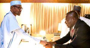 Buhari and Tony Nwoye, Anambra APC Governorship candidate