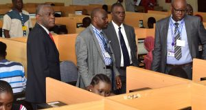 FUTA officials inspecting the Post-UTME Screening