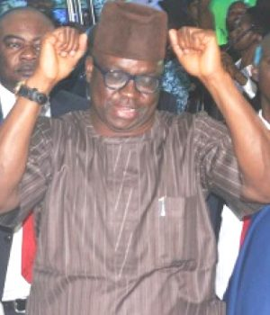 Fayose at his presidential declaration