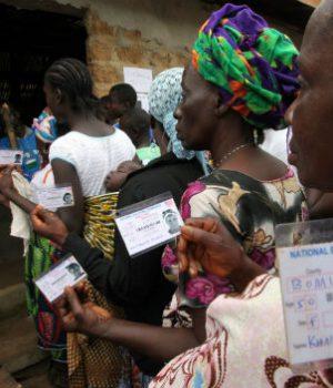 Liberian voters