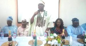 Olufemi Micheal Abikoye(standing) at a sensitisation programme