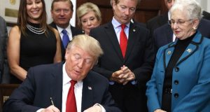 Trump signs the Executive Order