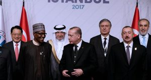 President Buhari with D-8 group members in Turkey