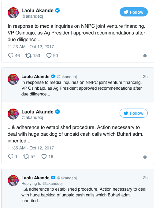 Tweets by Laolu Akande