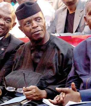 Elumelu, Osinbajo and Dangote, at the Tony Elumelu Foundation event