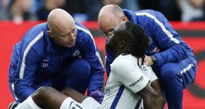 Victor Moses been attended to by medics