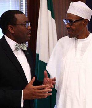 AfDB President Akinwunmi Adesina and President Buhari