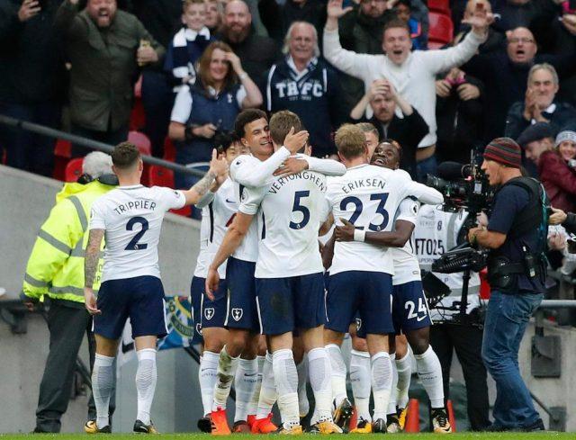 Spurs thrash Liverpool at Wembley