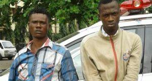 Robbery suspects Moshood Olowu (24) and Olasunkanmi Ogundipe