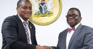 MDCAN President, Prof. Ngim Ngim and Health Minister, Prof. Adewole