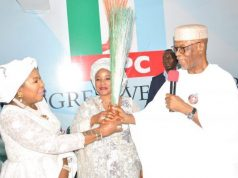 Ahmadu-Alis-Wife and APC chairman, John Odigie-Oyegun