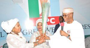 Ahmadu-Alis-Wife and APC chairman, John Odigie-Oyegun
