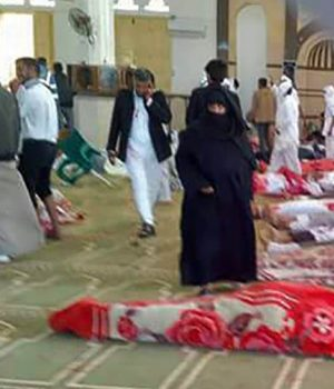 Bodies of victims at Al Rawdah mosque attack