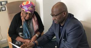 Boss Mustapha and Ekwueme's wife, Helen