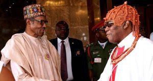Buhari and Oba of Benin