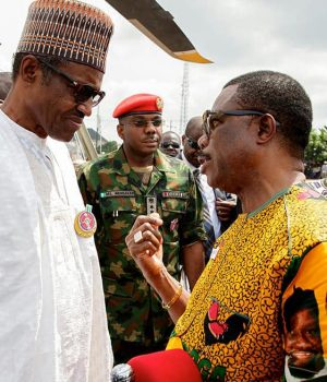 Gov. Obiano lodging complaint on the withdrawal of his security aides to President Buhari