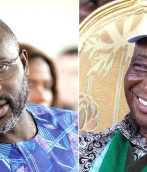 George Weah and Vice-President Joseph Boakai