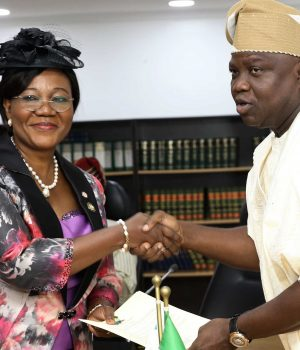 New Lagos HoS, Folashade Adesoye and Gov. Ambode